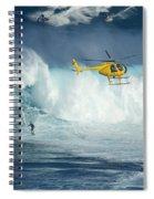 Surfing Jaws 6 Spiral Notebook
