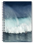 Surfing Jaws Running With Wolves Spiral Notebook