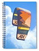 Surfing Kite Spiral Notebook