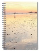 Surfing Sunset Spiral Notebook