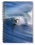 Surfing Under A Rainbow Spiral Notebook