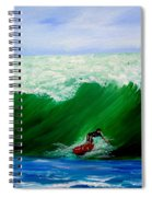 Surf's Up Surfing Wave Ocean Spiral Notebook