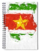 Suriname Painted Flag Map Spiral Notebook
