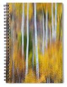 Surreal Aspen Tree Magic Abstract Art Spiral Notebook