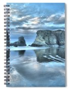 Surreal Beach Swirls Spiral Notebook