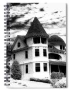 Surreal Black White Mackinac Island Michigan Infrared Victorian Home Spiral Notebook