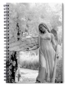 Surreal Dreamy Fantasy Infrared Angel Nature Spiral Notebook