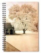 Surreal Ethereal Infrared Sepia Nature Landscape Spiral Notebook