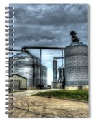 Surreal Grain Spiral Notebook