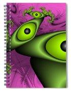 Surreal Green Eyes Fractal Spiral Notebook