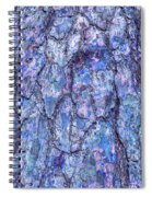 Surreal Patterned Bark In Blue Spiral Notebook