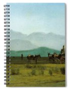 Surveyors Wagon In The Rockies Spiral Notebook
