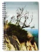Surviving On The Cliff Top  Spiral Notebook