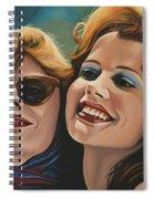 Susan Sarandon And Geena Davies Alias Thelma And Louise Spiral Notebook