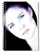 Susan Ward Blue Eyed Beauty With A Mole II Spiral Notebook