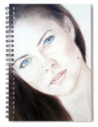 Actress And Model Susan Ward Blue Eyed Beauty With A Mole Spiral Notebook