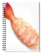 Sushi Cooked Shrimp Spiral Notebook