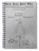 Suspender Patent Drawing Spiral Notebook