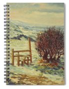Sussex Stile, Winter, 1996 Spiral Notebook