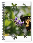 Swallowtail 4 With Flower Framing Spiral Notebook