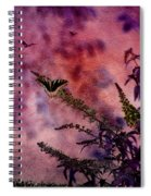 Swallowtail In The Butterfly Bush - Featured In The Wildlife And Comfortable Art And Newbies Groups Spiral Notebook