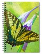 Swallowtail Visits Hosta Flowers Spiral Notebook
