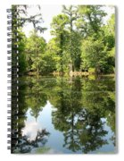 Swampland Reflection At The Plantation Spiral Notebook