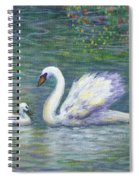 Swan And One Baby Spiral Notebook
