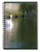 Swan In The Canal Spiral Notebook