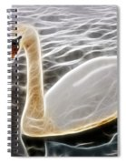 Swan In The Water Fractal Spiral Notebook