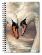 Swan Love Spiral Notebook