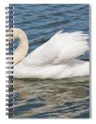 Swan On Blue Waves Spiral Notebook