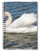 Swan On Blue Waves With Border Spiral Notebook