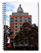 Swan Resort Side View Walt Disney World Spiral Notebook