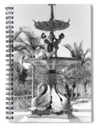 Swan Statue - Black And White With Vignette Spiral Notebook
