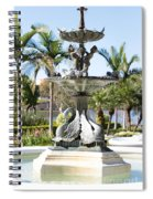 Swan Fountain In Lakeland Spiral Notebook