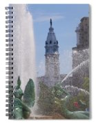 Swann Fountain In Philadelphia Spiral Notebook