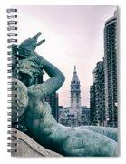 Swann Fountain Statue Spiral Notebook