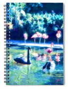 Swans And Flamingos Spiral Notebook