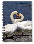 Swans Courting Spiral Notebook