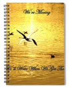 Swans Flying Over The Water Spiral Notebook