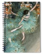 Swaying Dancer .dancer In Green Spiral Notebook