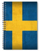 Sweden Flag Vintage Distressed Finish Spiral Notebook