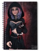 Sweet Betty With Gothic Doll Spiral Notebook
