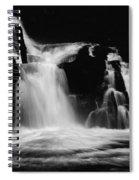 Sweet Creek Falls Oregon Monochrome Spiral Notebook
