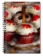 Sweet - Cupcake - Red Velvet Cupcakes  Spiral Notebook