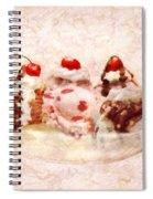 Sweet - Ice Cream - Banana Split Spiral Notebook