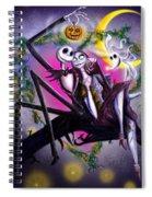 Sweet Loving Dreams In Halloween Night Spiral Notebook
