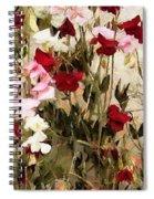 Sweet Pea Swath Spiral Notebook