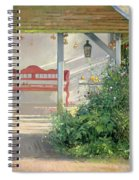 Sweet Peas And Autumn Harvest Oil On Canvas Spiral Notebook